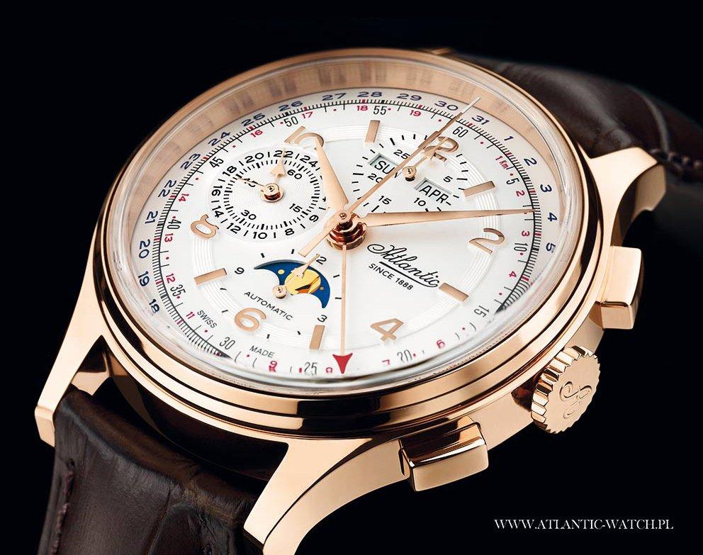 klasyczny zegarek Atlantic Moonphase Chronograph Universal