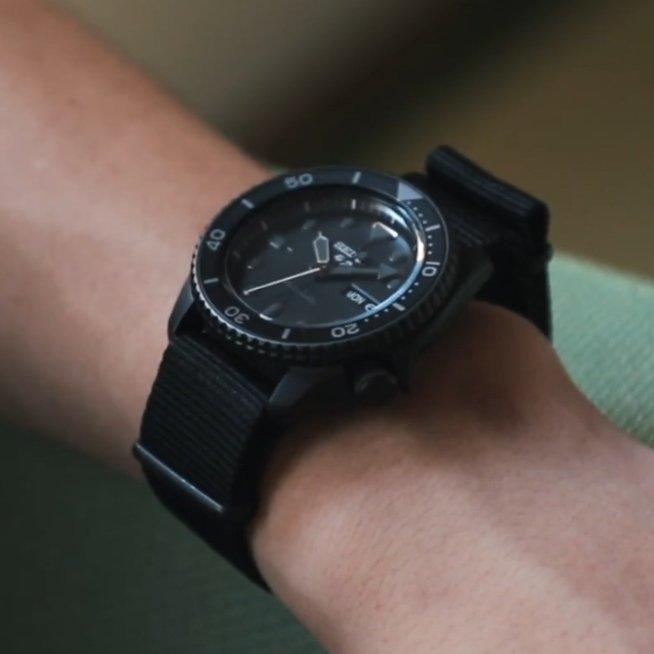 Zegarek Seiko 5 Sports z naciągiem automatycznym.