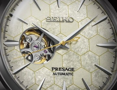 Zegarek z motywem plastra miodu - Seiko Presage Honeycomb - zdjęcie