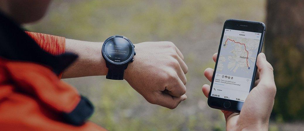 Zaawansowany technologicznie zegarek Suunto 9 posiadający nawigator GPS.