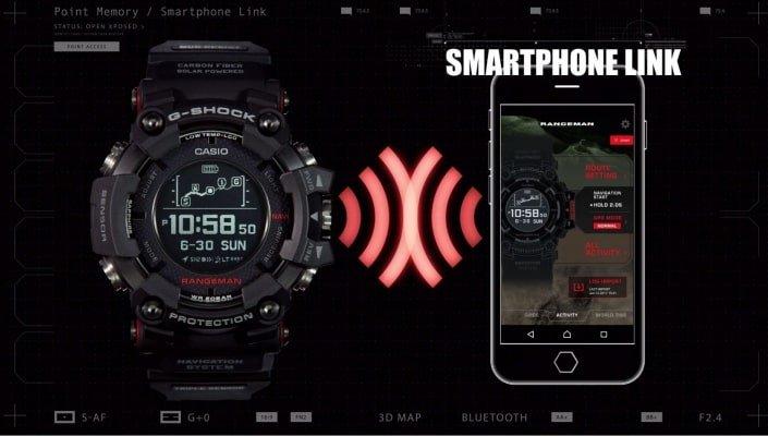 Atutem nowego zegarka G-Shock Master of G jest połączenie Bluetooth z aplikacją G-Shock GPR-B1000-1BER Connected na Twoim smartfonie.