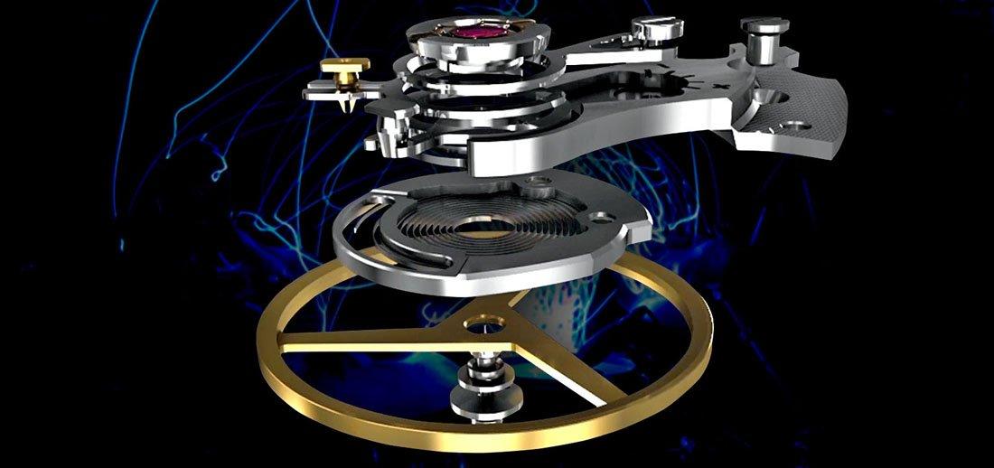 Autorski system marki Ball, SpringLOCK zapewnia dokładność chodu zegarka.