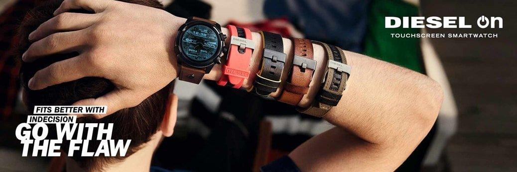 Różne rodzaje pasków do zegarka Diesel
