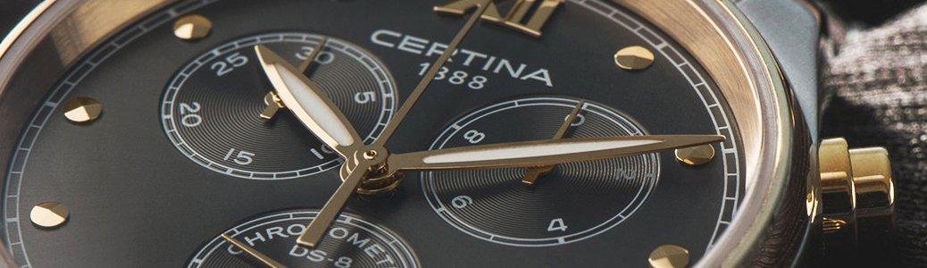 Subtarcza na zegarku Certina jako dodatkowy licznik na tarczy zegarka.