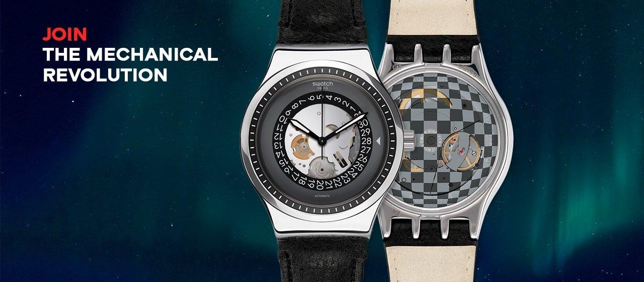 Modne zegarki Swatch YIS414 SISTEM SOLAIRE z mechanizmem automatycznym