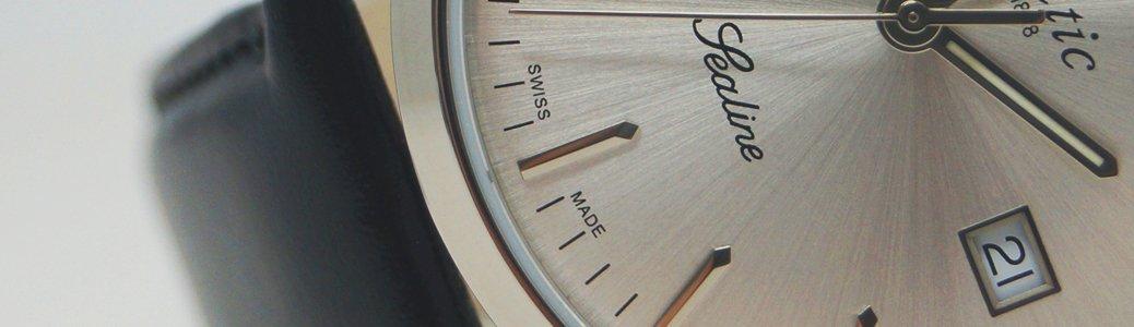 Zegarek Atlantic 62341.45.31 z mianem wyprodukowanego, zmontowanego oraz przetestowanego w Szwajcarii.