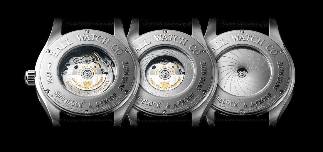 Antymagnetyczne zabezpieczenie zegarków marki Ball.