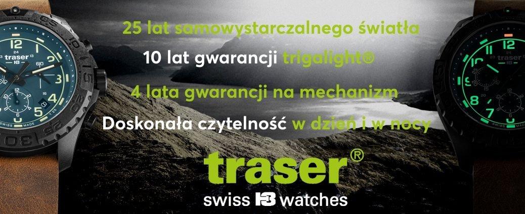 Szwajcarskie zegarki Traser