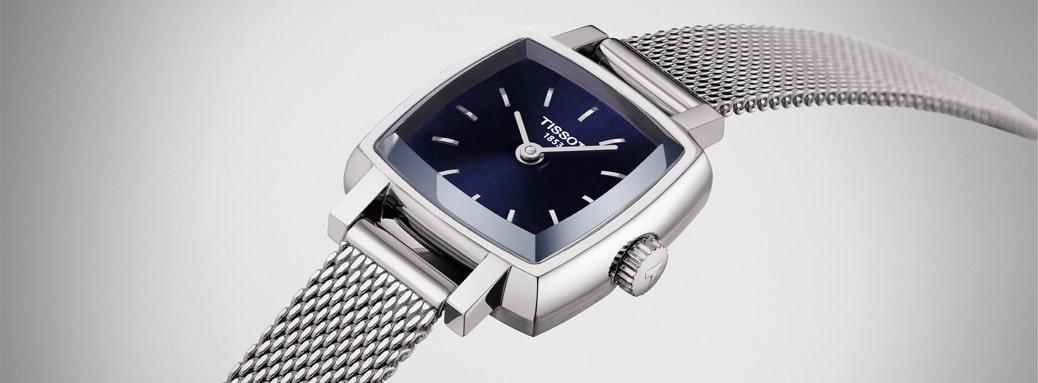 Elegancki zegarek Tissot T058.109.11.041.00 ze stalowa koperta i bransoleta typu mesh w srebrnym kolorze.