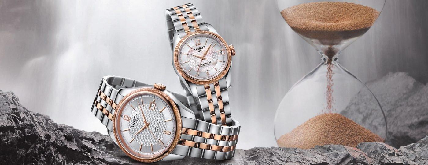 Luksusowe, damskie zegarki Tissot Ballade Powermatic 80 z dużą rezerwą chodu.