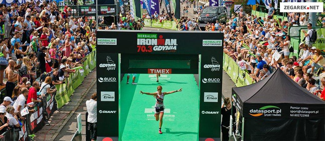 Meta triatlonu Ironman w Gdyni.