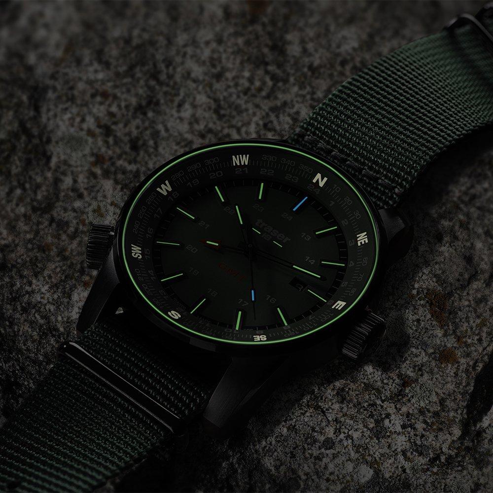 Oświetlenie Trigalight w zegarakch Traser