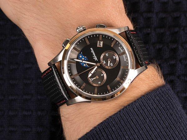Zegarek Adriatica A8282.R214CH Moonphase Chronograph