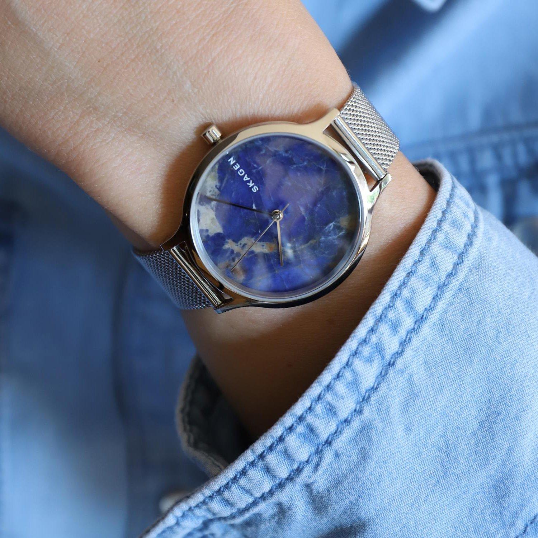 Piekny zegarek Skagen z tarczą wykonana z solidatu.