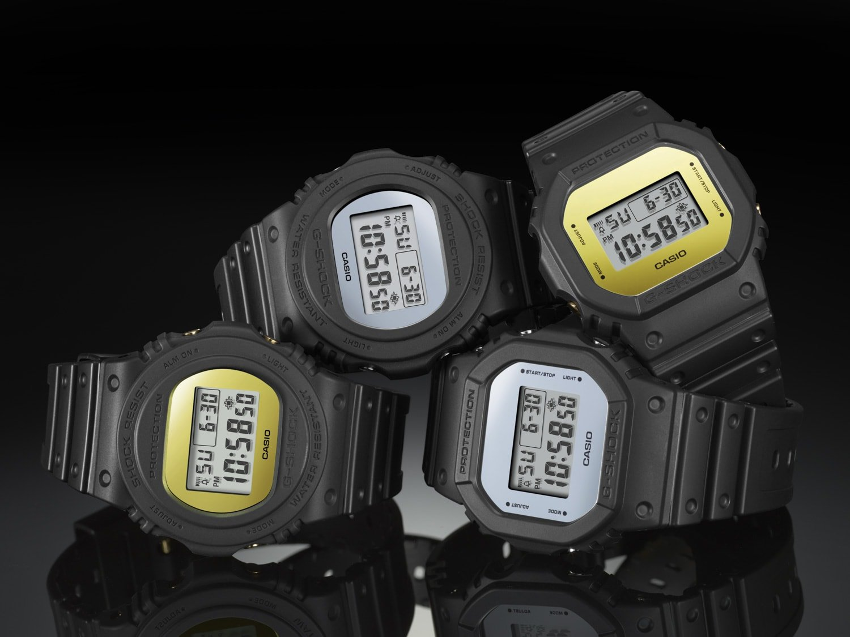 Najnowsze modele zegarków G-Shock Metallic Mirror Face Series na 35 urodziny firmy Casio.