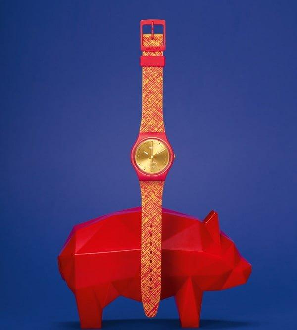 Zegarek Swatch wydany na inaugurację Chińskiego Nowego Roku.
