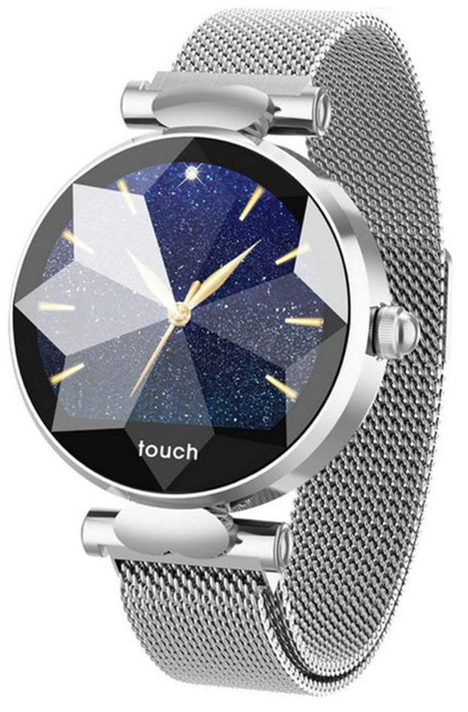 Garett 5903246282825 Damskie Smartwatch Garett Women Lisa srebrny stalowy