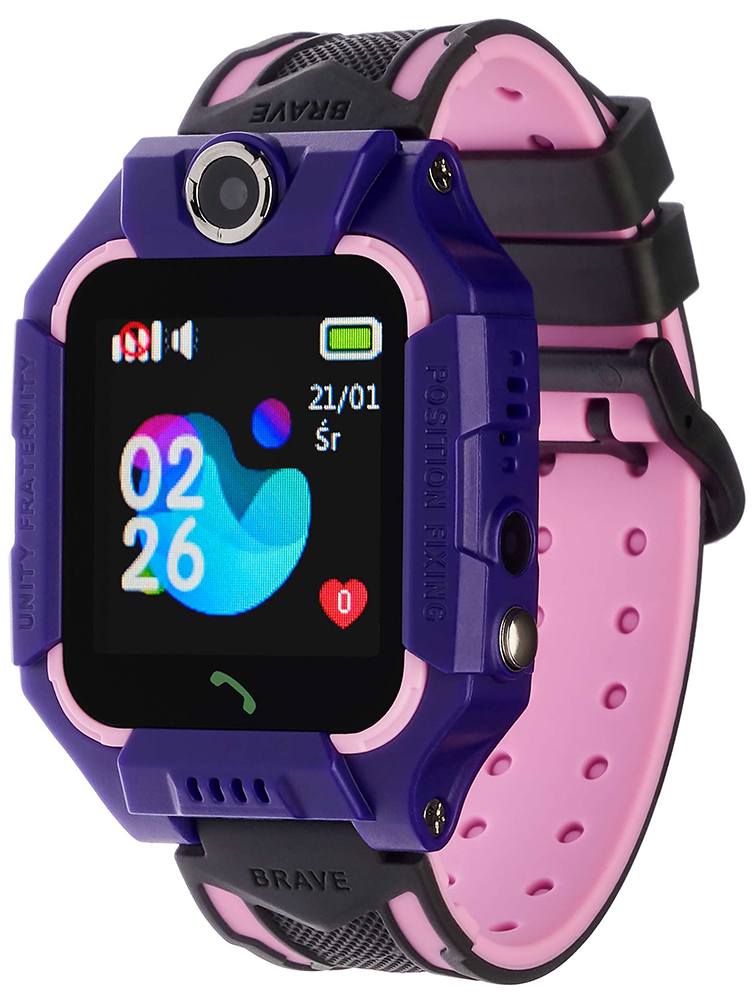 Garett 5903246284577 Dla dzieci Smartwatch Garett Kids Play Fioletowy
