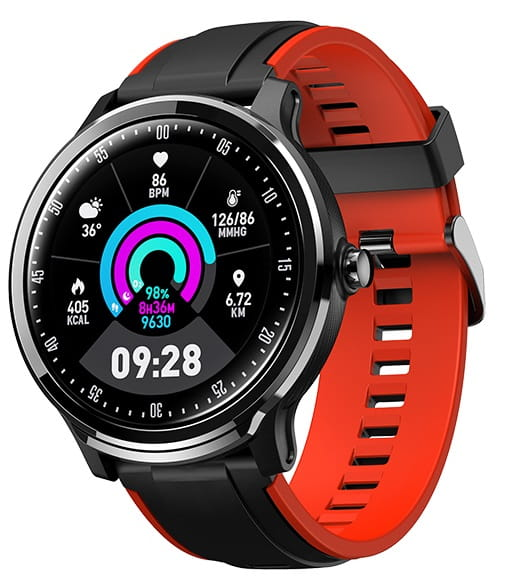Garett 5903246286687 Męskie Smartwatch Sport Garett Gym czerwony