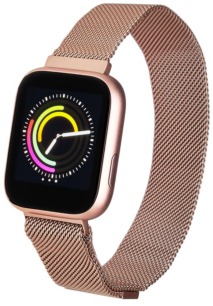 Garett 5903246287103 Damskie Smartwatch Garett Women Eva RT różowy stalowy