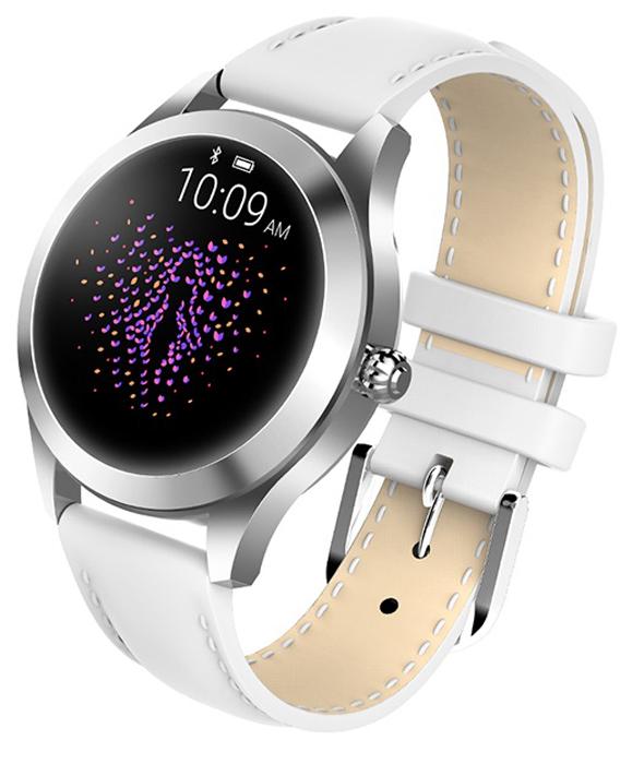 Garett 5903246287257 Damskie Smartwatch Garett Women Naomi RT biały skórzany