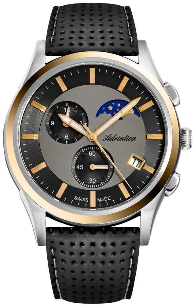 Adriatica A8282.22G7CH Pasek Moonphase Chronograph
