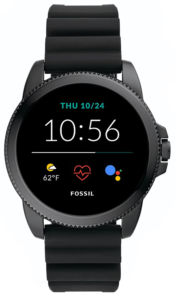 Fossil Smartwatch FTW4047 Fossil Q GEN 5E SMARTWATCH - BLACK SILICONE