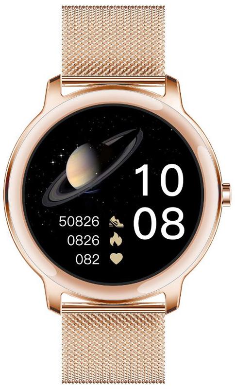 Rubicon SMARUB055 Smartwatch Rubicon RNBE66 różowe złoto