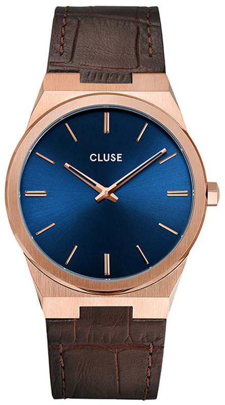 Cluse CW0101503002 Vigoureux Rose Gold Dark Brown Croco