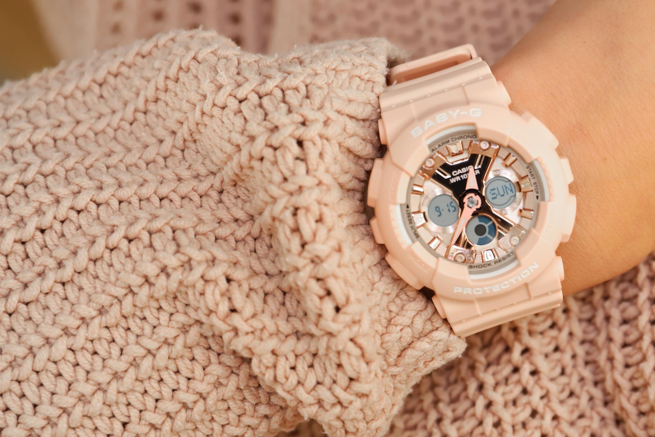 zegarek casio pudrowy roz