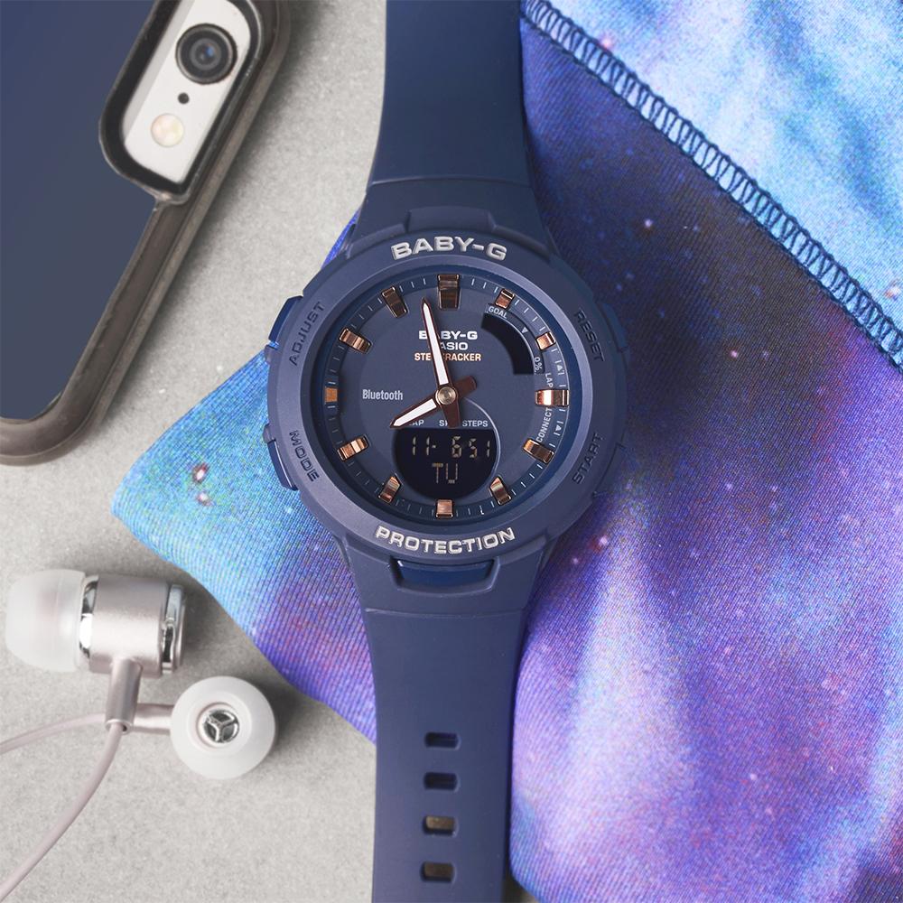 Kultowy zegarek Baby-G w granatowym kolorze