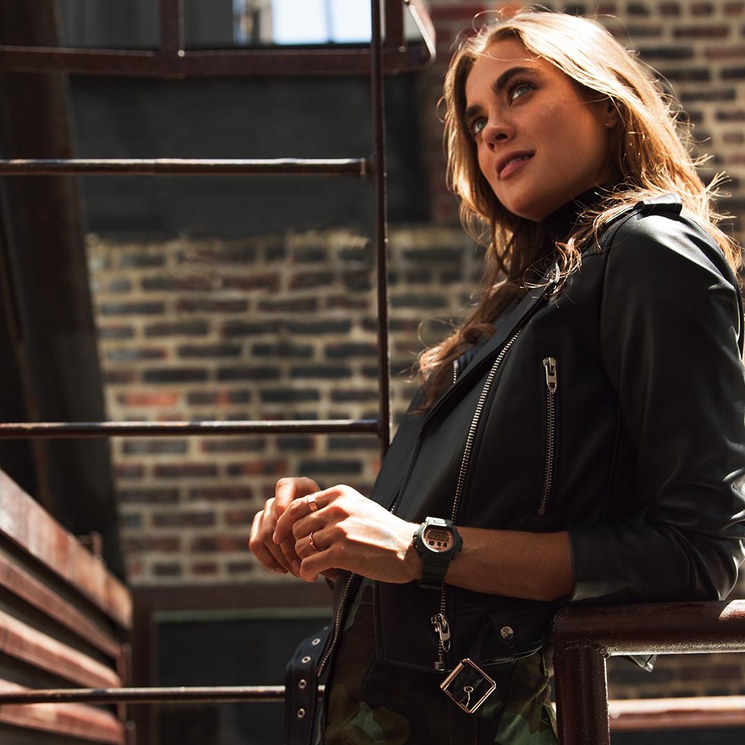 Kobiecy zegarek G-Shock S-series z rozbudowanym kalendarzem oraz podświetleniem illuminator.