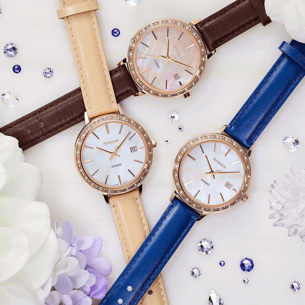 Piękna wiosenna kolekcja damskich zegarków Casio Sheen.