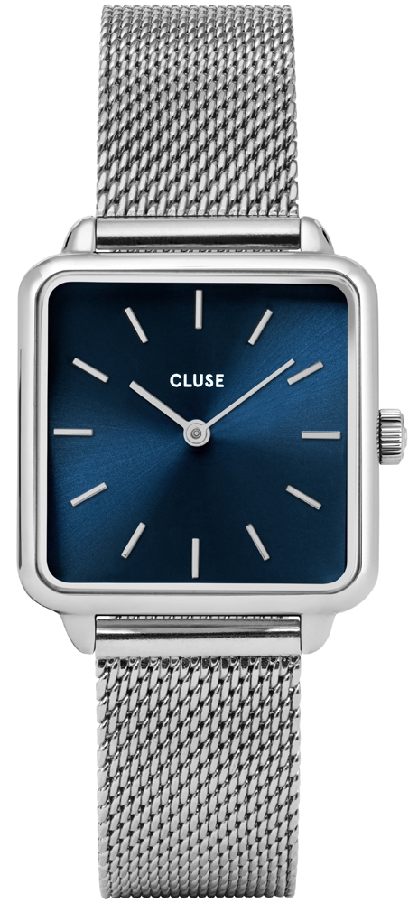 Cluse CL60011 La Tetragone Silver/Marine Blue