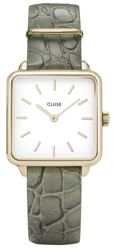 Cluse CW0101207016 La Tetragone Gold White/Green Alligator Jungle