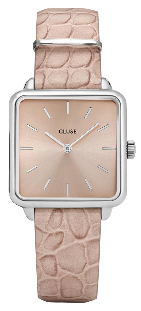 Cluse CL60019 La Tetragone Silver/Silver Soft Almond Alligator Jungle