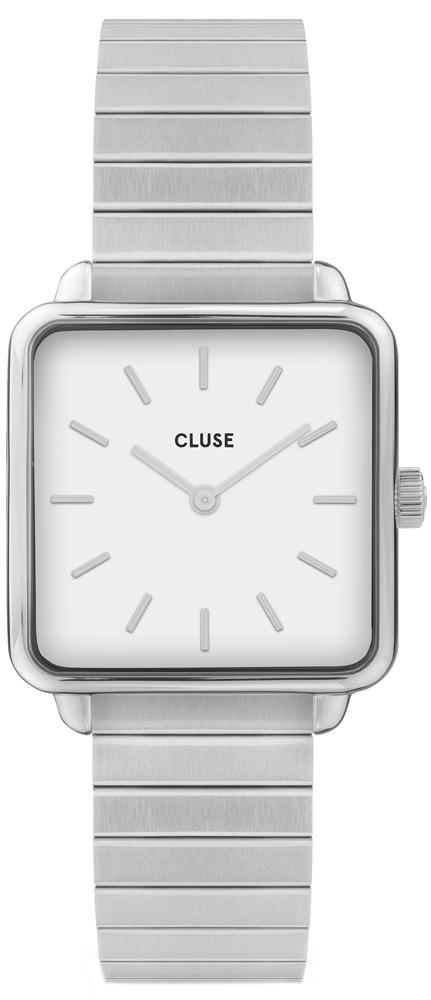 Cluse CL60022S La Tetragone Single Link Silver/White