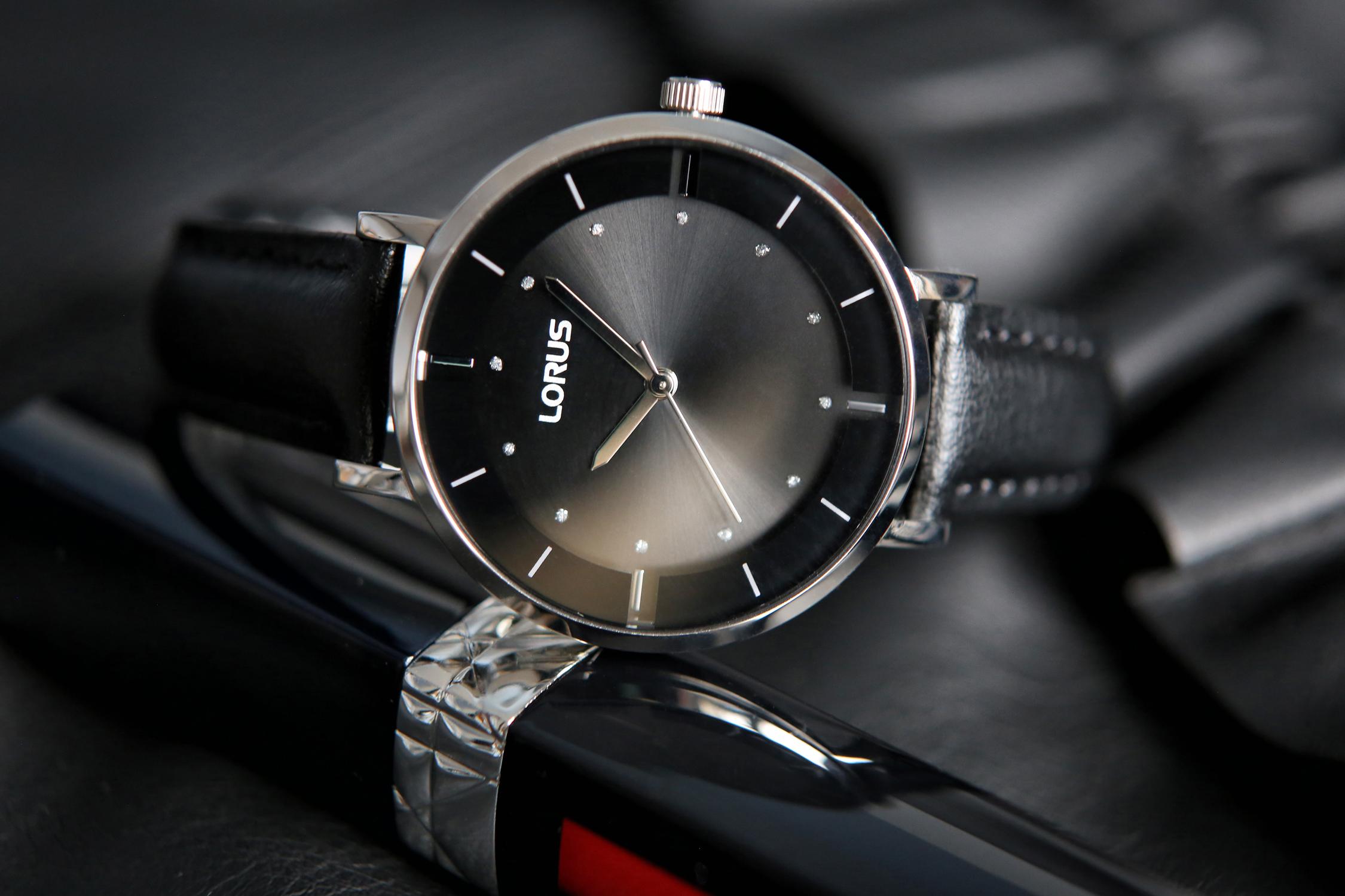 lorus zegarek damski czarny