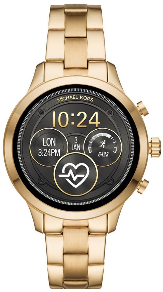 df3b42bb7ce071 Michael Kors MKT5045 Runway Gold Tone Smartwatch zegarek damski ...