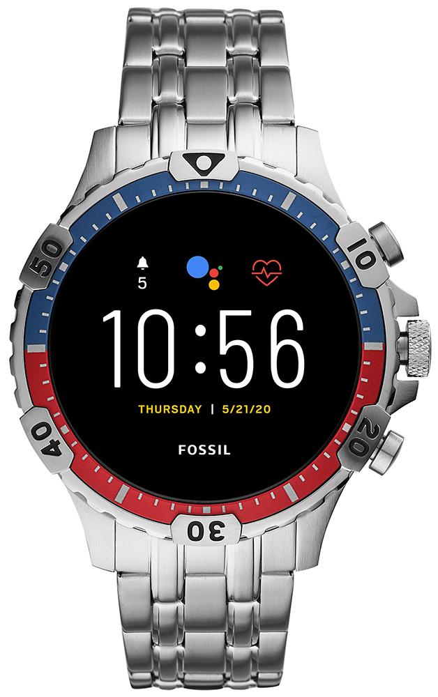 Fossil Smartwatch FTW4040 Fossil Q GEN 5 SMARTWATCH GARRETT HR SILVER