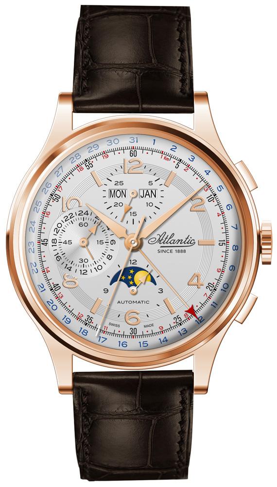 Niepowtarzalny wygląd limitowanego zegarka Atlantic Moonphase Chronograph Universal