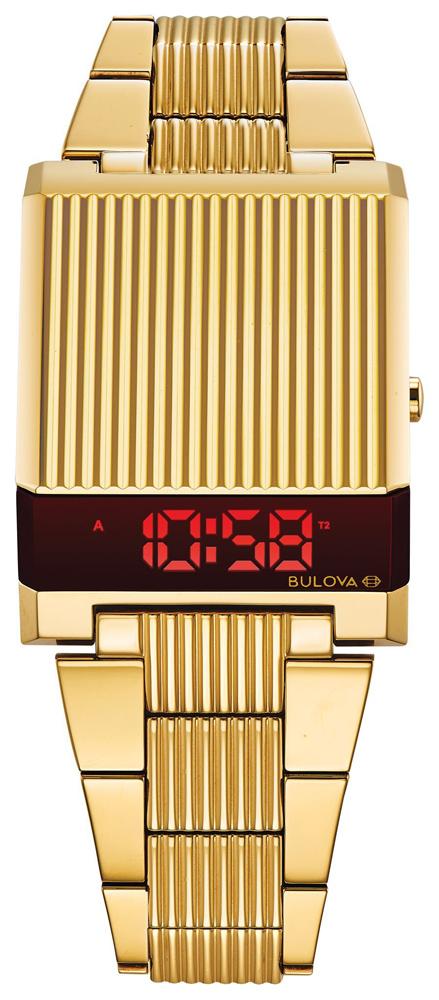 Złoty zegarek Bulova Computron