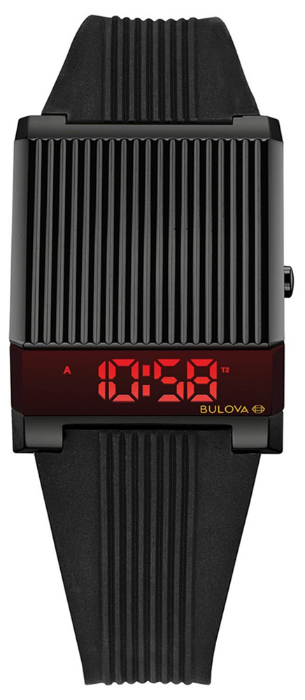 Czarny zegarek Bulova Computron