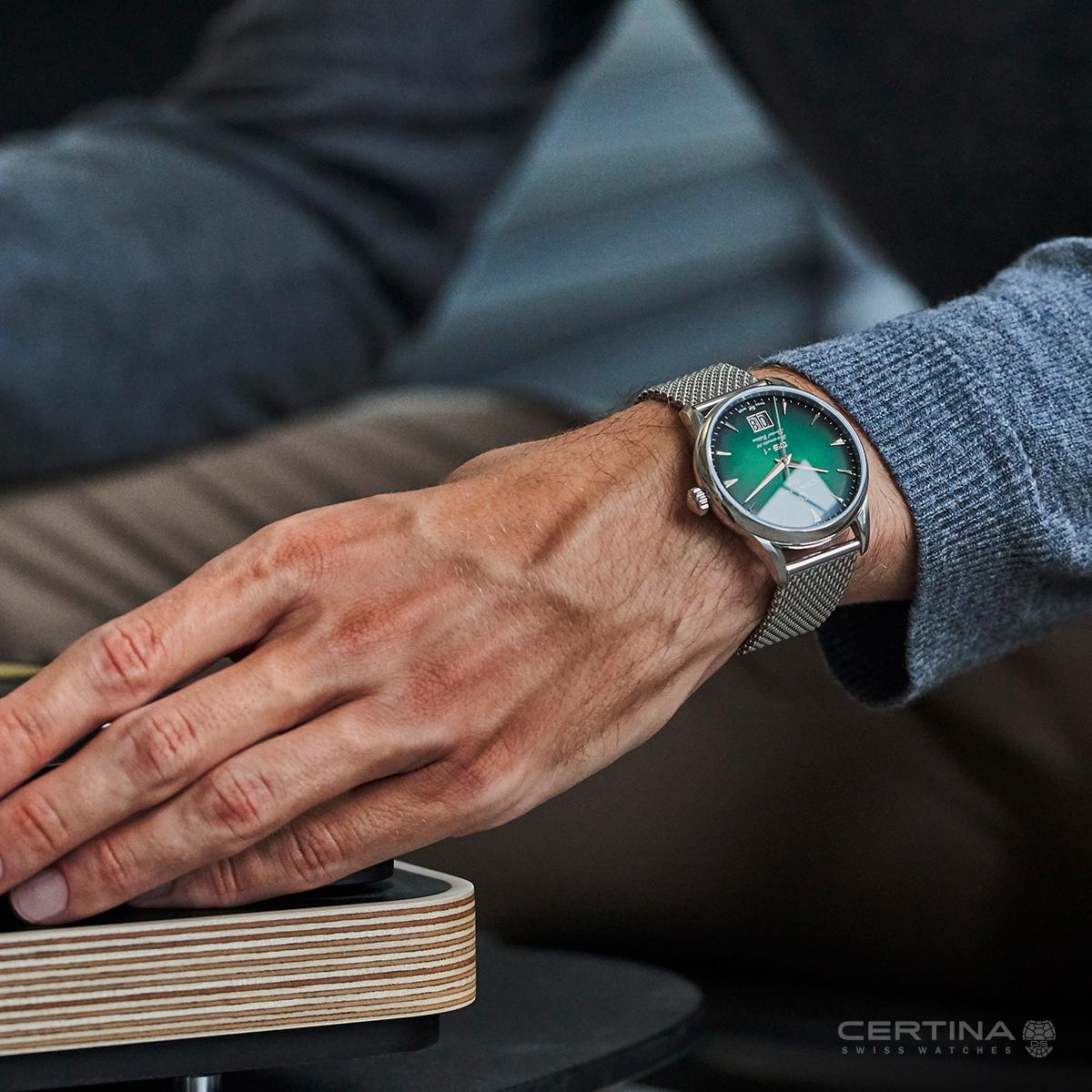 Specjalna edycja zegarka C029.426.11.091.60 - zegarek Certina DS-1 Nivachron™ Big Date 60th Anniversary