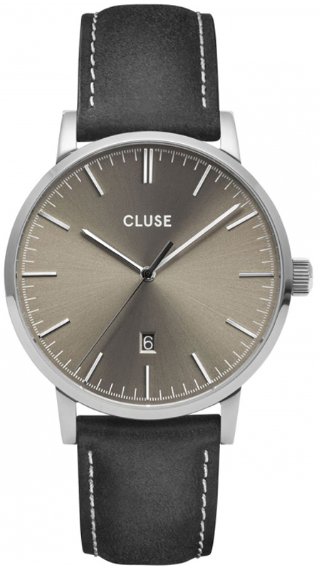 Zegarek Cluse męski Aravis Pasek Silver Warm Grey/Black & Silver Mesh Strap Gift Box