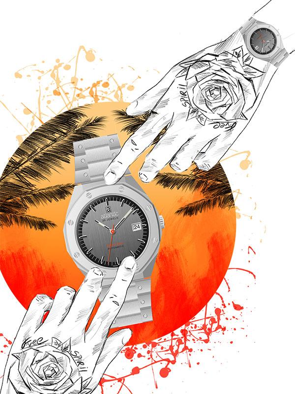 Wysoka jakość zegarlka Atlantic Beachboy