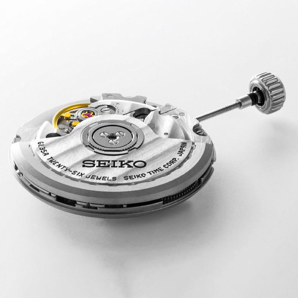Zegarek Seiko Presage posiada mechanizm automatyczny co oznacza, że nakręca się samoczynnie dzięki ruchom ręki.