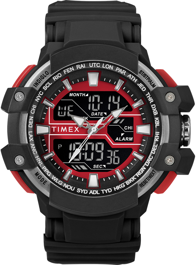 timex zegarek czerwony meski