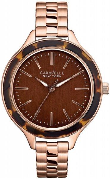 Zegarek damski Caravelle bransoleta 44L128 - duże 1