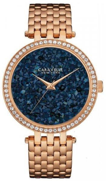 Zegarek damski Caravelle bransoleta 44L186 - duże 1